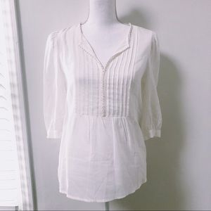 See by Chloe | Pleated Front Peasant Blouse
